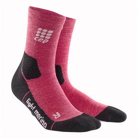 cep Dynamic+ Outdoor Calcetines Corte Medio Merino Light Mujer, wild berry
